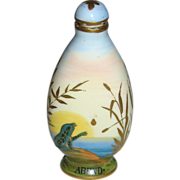Antique Austrian Enameled Scenic Scent Bottle