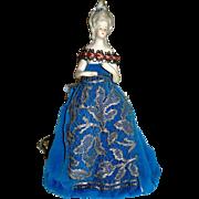 "Madame Pompadour  Type 8"" Half Doll — Beautiful Costume"