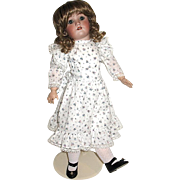 Large Handwerck-Simon Halbig Doll, Beautiful Lawn Dress