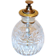 Rare English Sterling Yellow Guilloche Perfume Atomizer Bottle