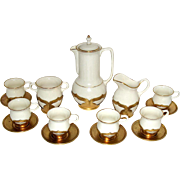 30's Lenox Farber Brothers 16 pc Demitasse Coffee Set--MINT