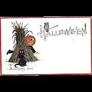 Gibson JOL Man Fantasy Halloween Postcard--free shipping
