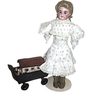 Lovely German Antique Bisque Head Doll -- 3500 AM Girl