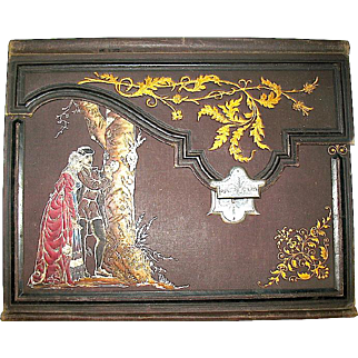 Amazing 1800's French Letter and Stationery Holder