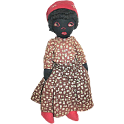 Early 20th Century Black Cloth Doll--SALE