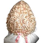 Vintage Mohair Wig - Sz. 12--Custom Made--GORGEOUS!