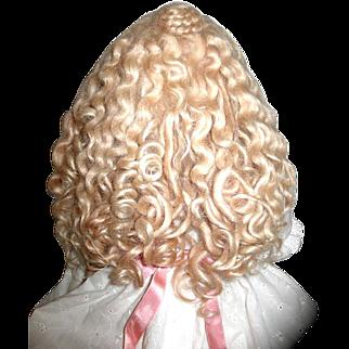 Vintage Mohair Wig - Sz. 12--Custom Made--GORGEOUS!