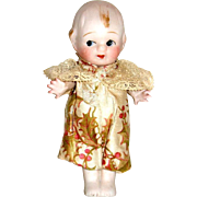 All Bisque Googly Doll w Starfish Hands—Cute Christmas Costume