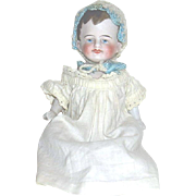 "Sweet 6"" All Bisque German Baby Doll--Antique Gown"