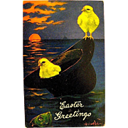 Very Rare Valentine and Sons Easter Postcard