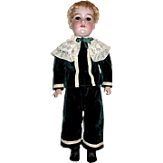 "24"" A.M. 390n School Boy Doll in Superb Edwardian Outfit"