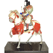 Japanese Musha Ningyo Armored Samurai Warrior on Warhorse