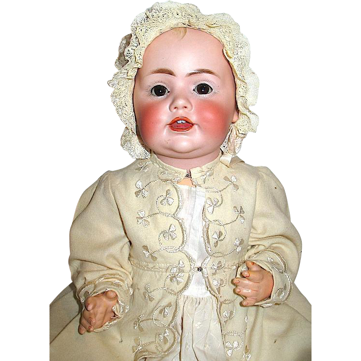 "JDK Marked All Original Hilda's Sister 17"" Doll w Working Crier, Perfect Head, Great Body"