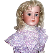 HTF Simon & Halbig 550 Doll on Gimbel Bros. Body, Original Mohair Wig, Lovely Dress
