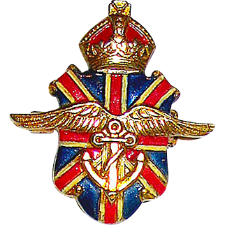 Silson Patriotic British and Ambulance Corps War Relief Pin c. 1940