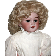 "Gorgeous Simon Halbig 1250 ""SANTA"" Shoulder Head Doll, Mohair Wig, Superb French Hat"