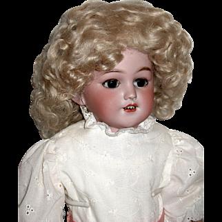 "Gorgeous Simon Halbig 1250 ""SANTA"" Shoulder Head Doll, Mohair Wig, Superb French Hat"