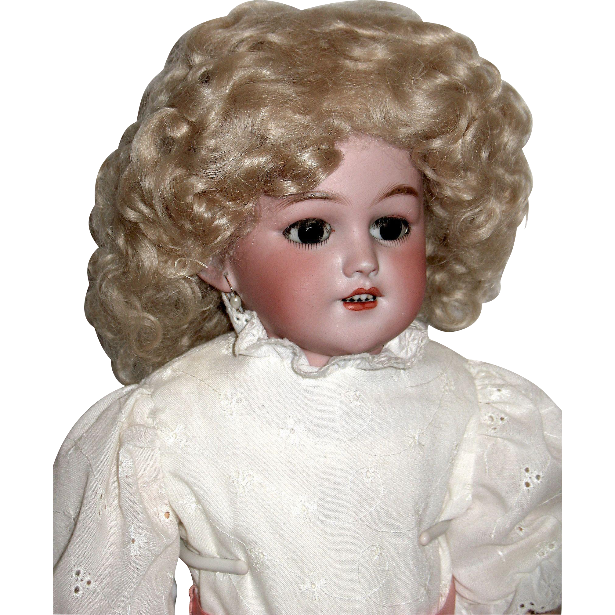 Rare Simon Halbig 1250 Shoulder Head Doll Version of Santa 1249 Bisque Head Doll