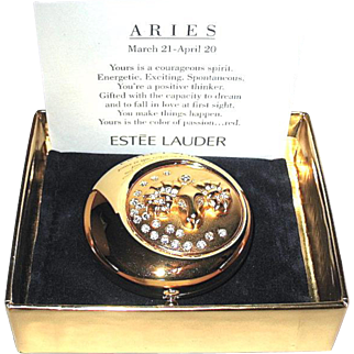 Estee Lauder Limited Edition Zodiac Compact Aries, MIB, FREE Shipping
