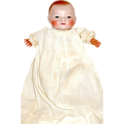 "Superb 10"" Bye-lo Baby Doll— Brown Sleep Eyes, Marked Chest, All Orig. Costume"