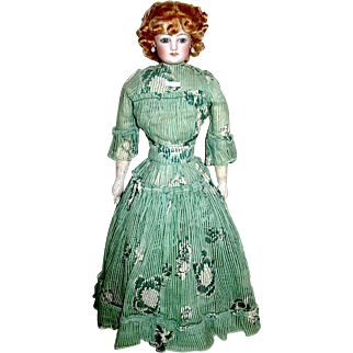 """Francois Gaultier Marked 18"""" French Fashion Lady Doll—All Original Factory Made Costume"""