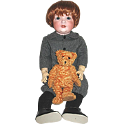 Large Mischievous Antique Bahr & Proschild Toddler Character Doll