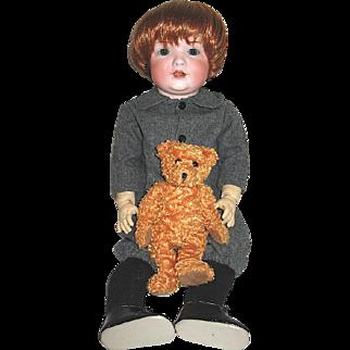 Large Mischievous Antique Bahr & Proschild Toddler Character Doll