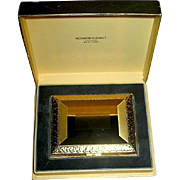 Gorgeous Unused 14kt Gold Plated Richard Hudnut Vanity Compact, MIB