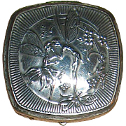 Precious Djer-Kiss Silver Plated Maxfield Parrish Designed Fairy Compact