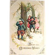 Winsch Schmucker 1913 Christmas Postcard, Children at Play