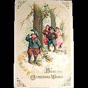 Winsch Schmucker 1913 Christmas Postcard, Children at Play