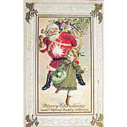 J.J. Marks 567 Santa Claus Comical Christmas Postcard