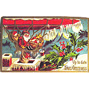 Conwell 1909 Copyright Santa Claus in Gondola of Airship