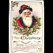 Fine Santa Claus Image Christmas 1910 Postcard