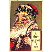 1908 Julius Bien Jolly Santa Claus Christmas Postcard