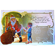 Comical Santa Claus Postcard from Same Christmas Series  (1 of 2)