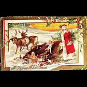 Christmas Postcard, Calamity for Santa Claus