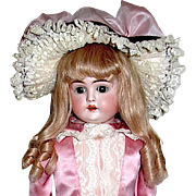 "Gorgeous Kestner ""L"" Marked Doll, HH Wig, Beautiful French Costume"