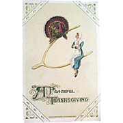 Winsch 1913 Thanksgiving Postcard Designed by Samuel Schmucker
