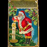 1909 Miniature Santa Claus Christmas Postcard