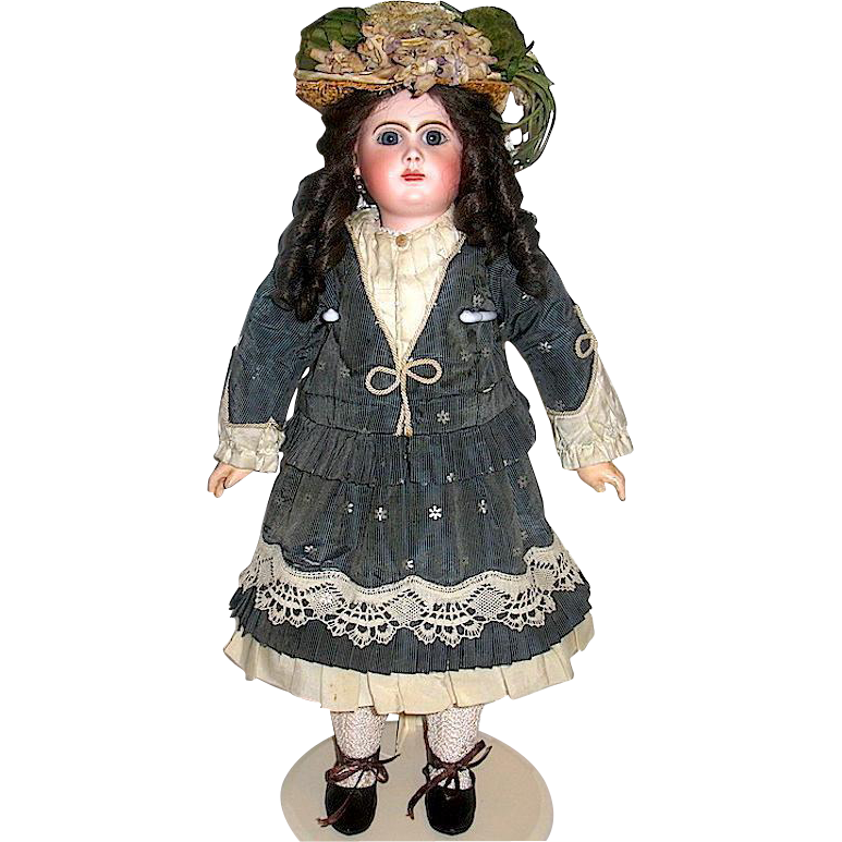 Stunning Henri Alexandre Phenix Star Bebe Doll, Orig. Costume, Rare Jumeau Bebe Incassable Body