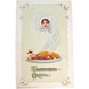 Winsch 1913 FANTASY Thanksgiving Postcard Designed by Samuel Schmucker
