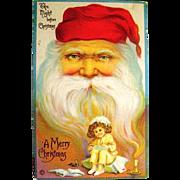 Stetcher Ltd. Co. Large Santa Claus Face Fantasy Postcard