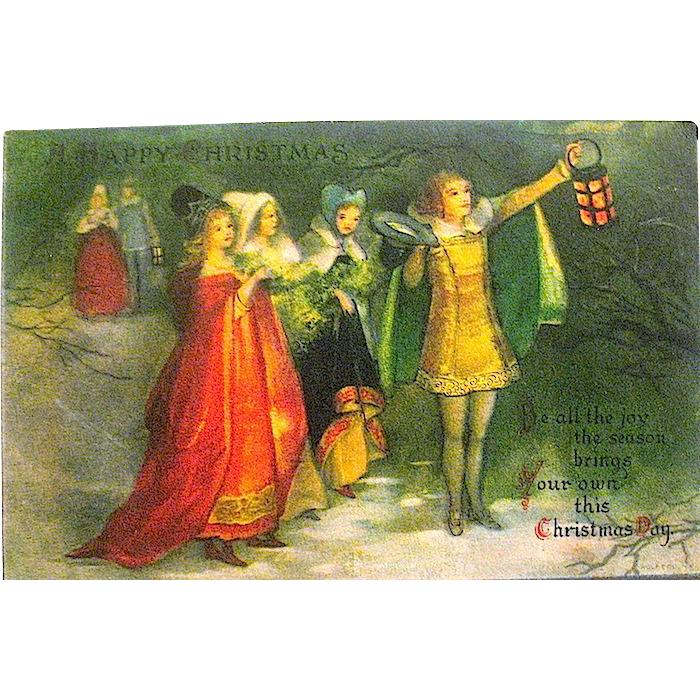 Rare Clapsaddle Renaissance Christmas Celebration Postcard