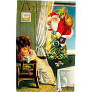 Unused National Art Publishing Co. Santa Claus Postcard