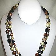 "50% Sale ~ Runway 45 in. ""CELEBRITY"" Designer Glass Beaded Necklace & Earrings Set"