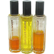 Houbigant Tester Perfume Bottles for Indian Summer, Chantilly and Quelques Fleurs