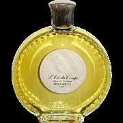 """Largest Vintage Nina Ricci """"L'Air du Temps Eau De Toilette, Lalique Bottle, MIB"""