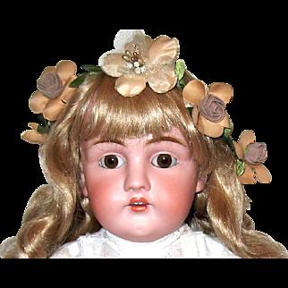 Superb Large Kestner 154 Bisque Head Doll - Gorgeous Antique Whitework Dress