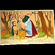 "Scarce Unused French Cartoonist ""G. LAUVE"" Signed Christmas Postcard"